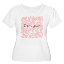I love glitter Plus Size T-Shirt