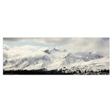 Panoramic View Of Snow-Covered St. Elias Mountains Poster