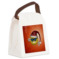 Cute smily Canvas Lunch Bag