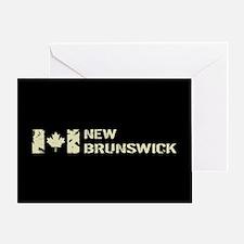 Canadian Flag: New Brunswick Greeting Card