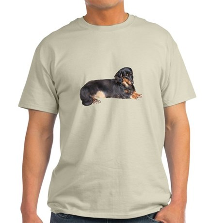 Black Long Hair Dachshund Light T-Shirt