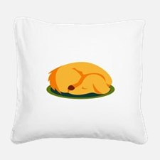 Sleeping Dog Square Canvas Pillow