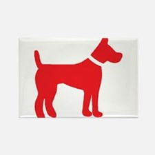 dog red 3 Magnets