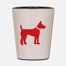 dog red 3 Shot Glass