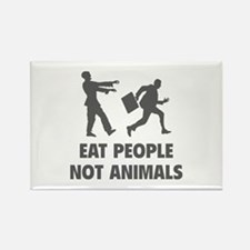 Eat people not animal Rectangle Magnet