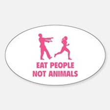 Eat people not animal Decal