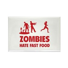 Zombies hate fast food Rectangle Magnet