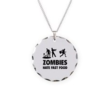Zombies hate fast food Necklace Circle Charm