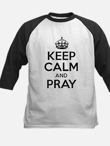 Keep Calm And Pray Baseball Jersey