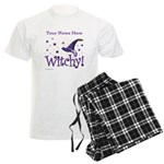Witchy Personalize Men's Light Pajamas