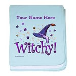 Witchy Personalize Baby Blanket