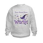 Witchy Personalize Kids Sweatshirt