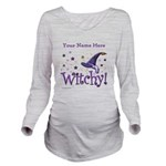 Witchy Personalize Long Sleeve Maternity T-Shirt