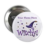 """Witchy Personalize 2.25"""" Button (100 Pack)"""