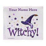 Witchy Personalize Throw Blanket