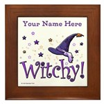 Witchy Personalize Framed Tile