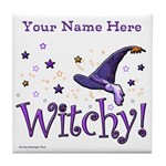 Witchy Personalize Tile Coaster