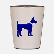 dog blue 3 Shot Glass