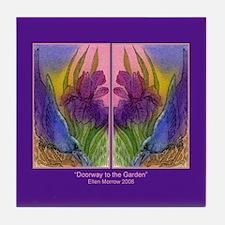 CROW and Iris Garden Tile Coaster