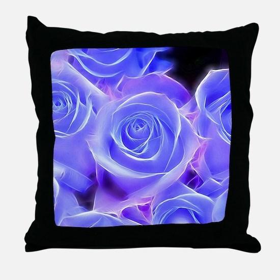 Funny Purple rose Throw Pillow