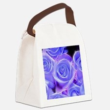 Cool Purple rose Canvas Lunch Bag
