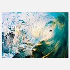 Hawaii, Maui, Makena, Beautiful Blue Wave Breaking