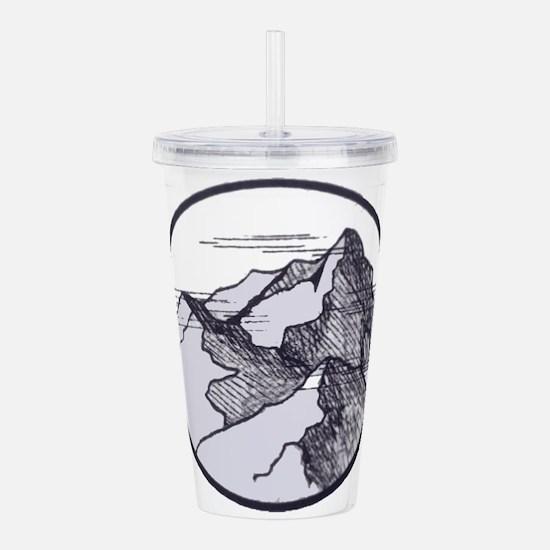 Mountain Acrylic Double-wall Tumbler