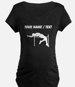 Custom High Jump Silhouette Maternity T-Shirt