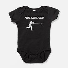 Custom Hammer Throw Silhouette Baby Bodysuit