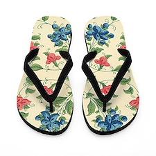 Beautiful Vintage Flora Design Flip Flops