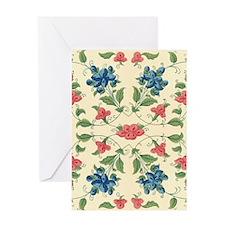 Beautiful Vintage Flora Design Greeting Cards