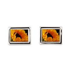 Unique Sunflowers Rectangular Cufflinks