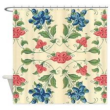 Beautiful Vintage Flora Design Shower Curtain