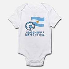 Argentine Flag and Soccer Ball Body Suit