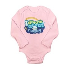 I Dream About Rugby Long Sleeve Infant Bodysuit
