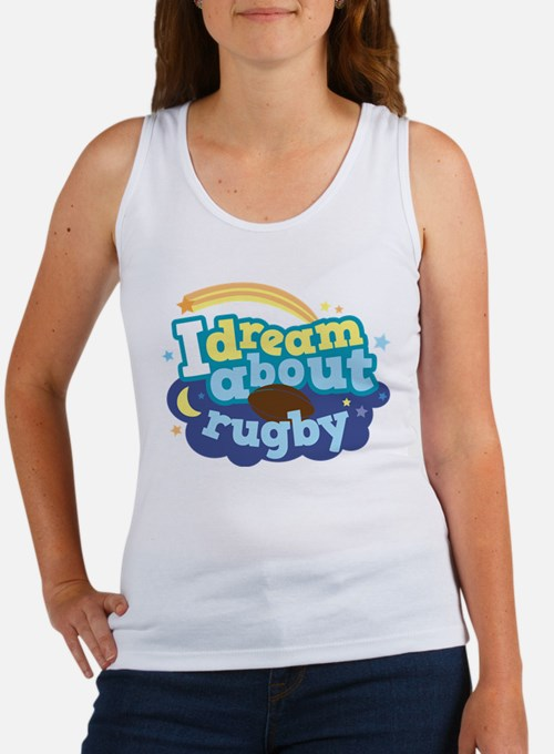 I Dream About Rugby Women's Tank Top