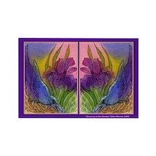 CROW and Iris Garden Rectangle Magnet