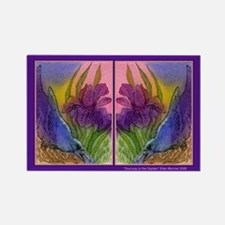 CROW and Iris Garden Rectangle Magnet