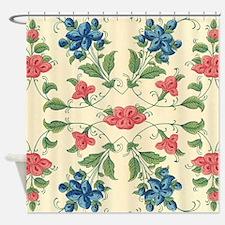 Pastel Tones Vintage Flower and Leaves Design Show