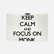 Keep Calm and focus on Monk Magnets