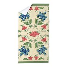 Pastel Tones Vintage Flower and Leaves Design Beac