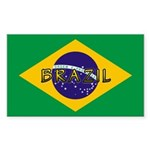 Brazil Flag Rectangle Sticker