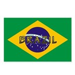 Brazil Flag Postcards (Package of 8)