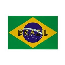 Brazil Flag Rectangle Magnet (10 pack)