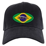 Brazil Flag Black Cap