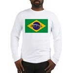 Brazil Flag Long Sleeve T-Shirt