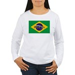 Brazil Flag Women's Long Sleeve T-Shirt