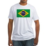 Brazil Flag Fitted T-Shirt