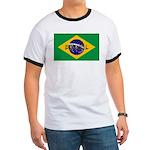Brazil Flag Ringer T