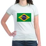 Brazil Flag Jr. Ringer T-Shirt